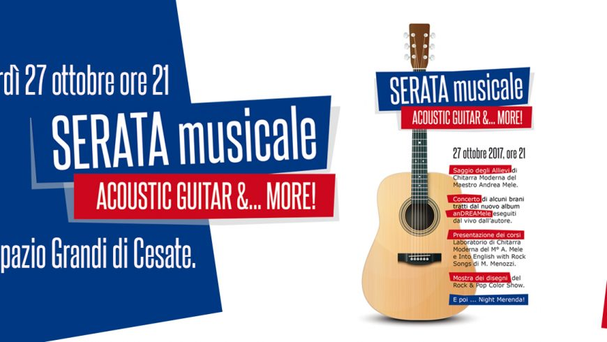 Serata Musicale: ACOUSTIC GUITAR & MORE…