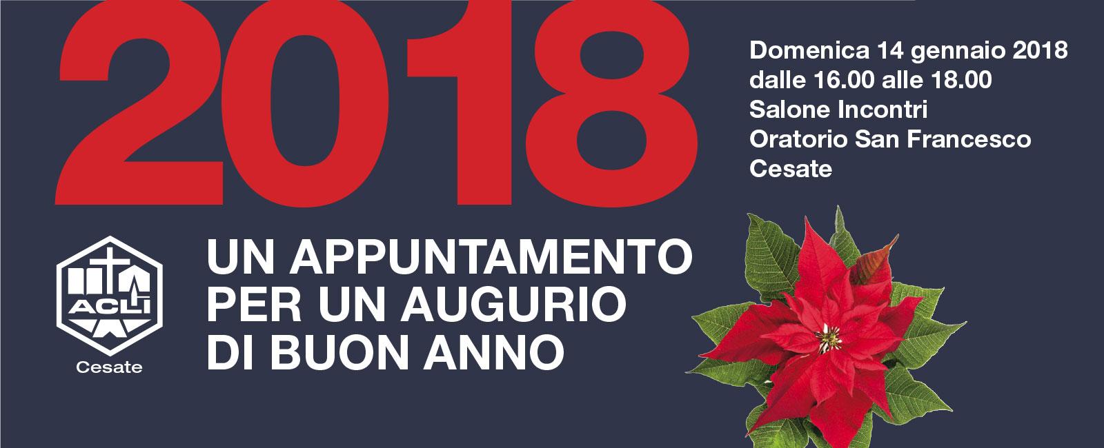 2018 UN APPUNTAMENTO PER UN AUGURIO DI BUON ANNO