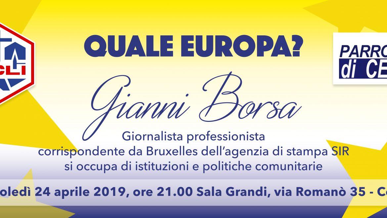 Quale Europa? Incontro con Gianni Borsa