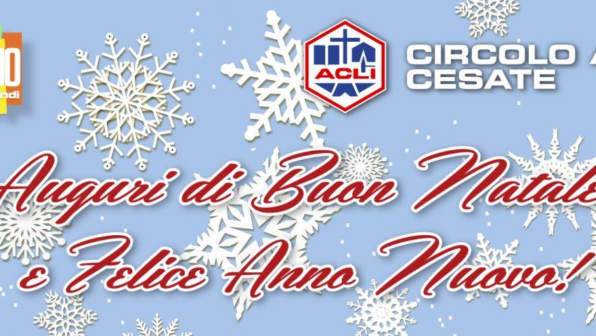 Auguri di Buon Natale e Felice Anno Nuovo!