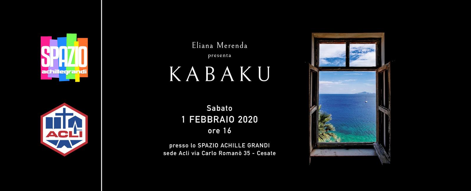 Eliana Merenda presenta il suo nuovo romanzo KABAKU
