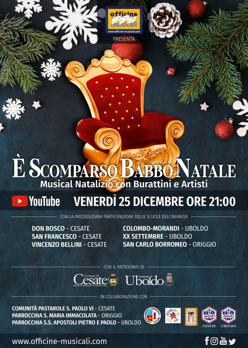 É scomparso Babbo Natale! Evento online 25 dicembre ore 21